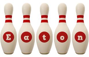 Eaton bowling-pin logo