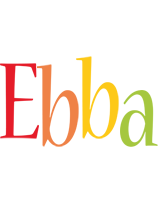 Ebba birthday logo