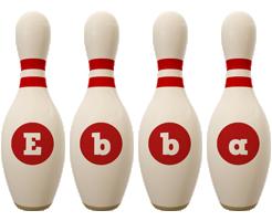 Ebba bowling-pin logo