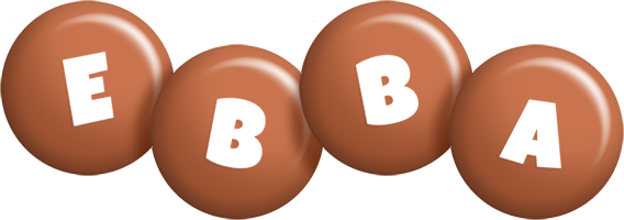 Ebba candy-brown logo