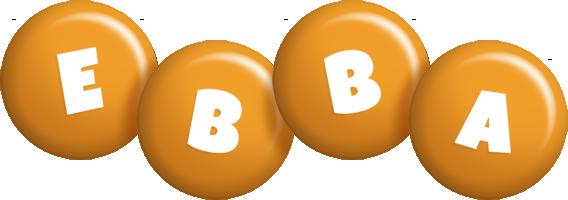 Ebba candy-orange logo