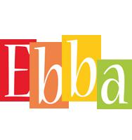 Ebba colors logo