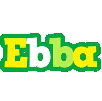 Ebba soccer logo