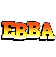 Ebba sunset logo