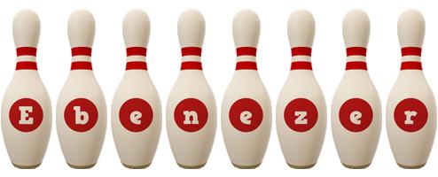 Ebenezer bowling-pin logo