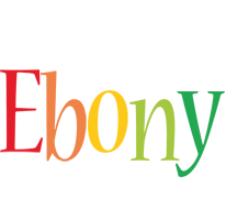 Ebony birthday logo