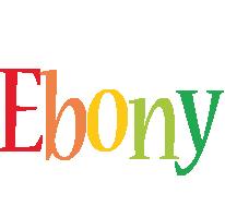 Ebony birthday logo