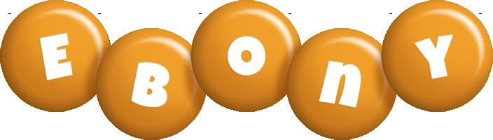 Ebony candy-orange logo
