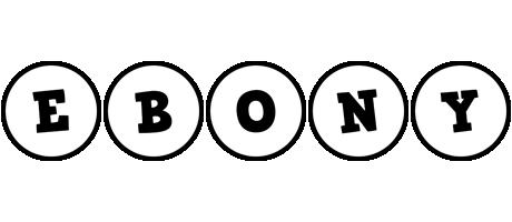 Ebony handy logo