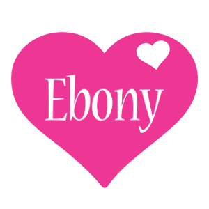 Ebony love-heart logo