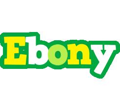 Ebony soccer logo