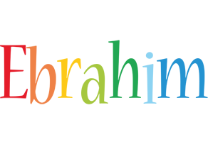 Ebrahim birthday logo