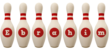 Ebrahim bowling-pin logo