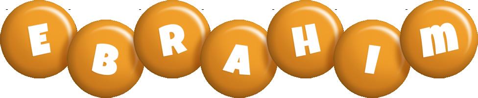 Ebrahim candy-orange logo