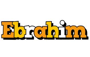 Ebrahim cartoon logo