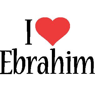 Ebrahim i-love logo