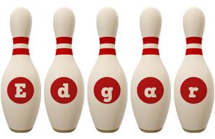 Edgar bowling-pin logo