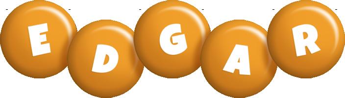 Edgar candy-orange logo