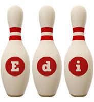 Edi bowling-pin logo