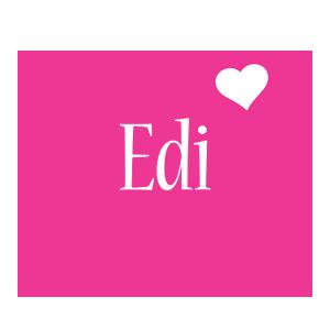 Edi love-heart logo