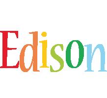 Edison birthday logo