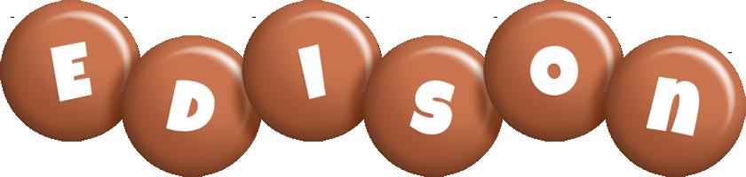 Edison candy-brown logo