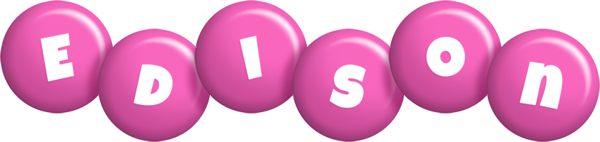 Edison candy-pink logo