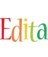 Edita birthday logo
