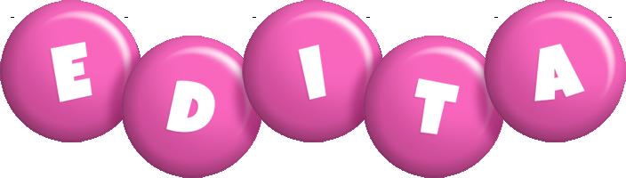 Edita candy-pink logo