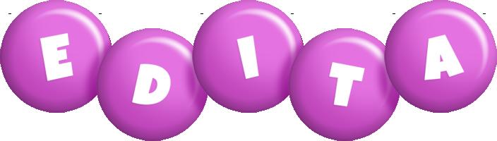 Edita candy-purple logo