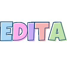 Edita pastel logo