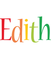 Edith birthday logo