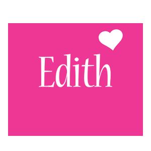 Edith love-heart logo