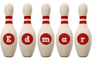 Edmar bowling-pin logo