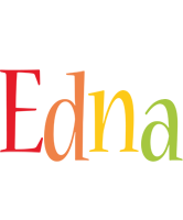 Edna birthday logo
