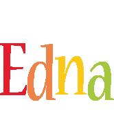 Edna birthday logo