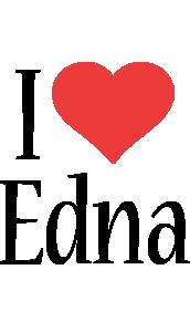 Edna i-love logo