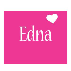 Edna love-heart logo