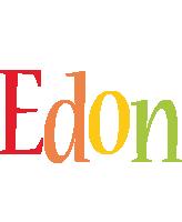 Edon birthday logo