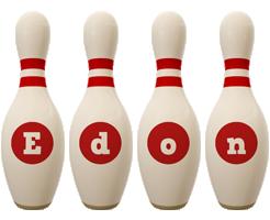 Edon bowling-pin logo