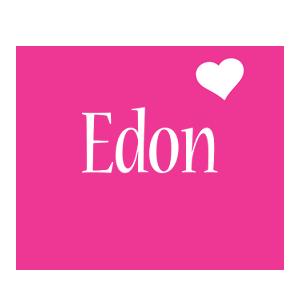 Edon love-heart logo