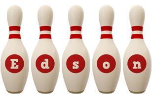 Edson bowling-pin logo