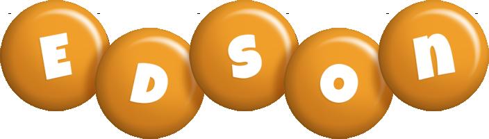 Edson candy-orange logo