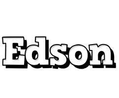 Edson snowing logo