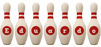 Eduardo bowling-pin logo