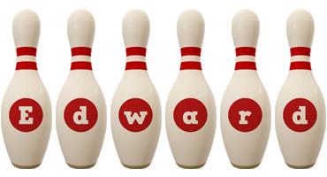 Edward bowling-pin logo