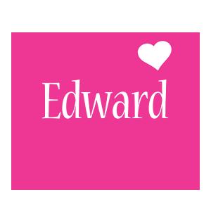 Edward love-heart logo