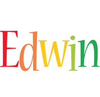 Edwin birthday logo