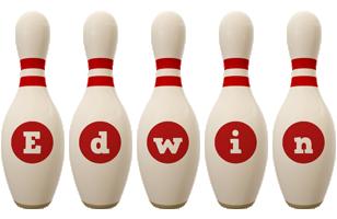 Edwin bowling-pin logo