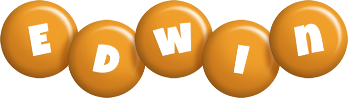 Edwin candy-orange logo